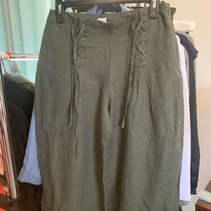 Gap Olive Green Wide Leg Size 6 pants